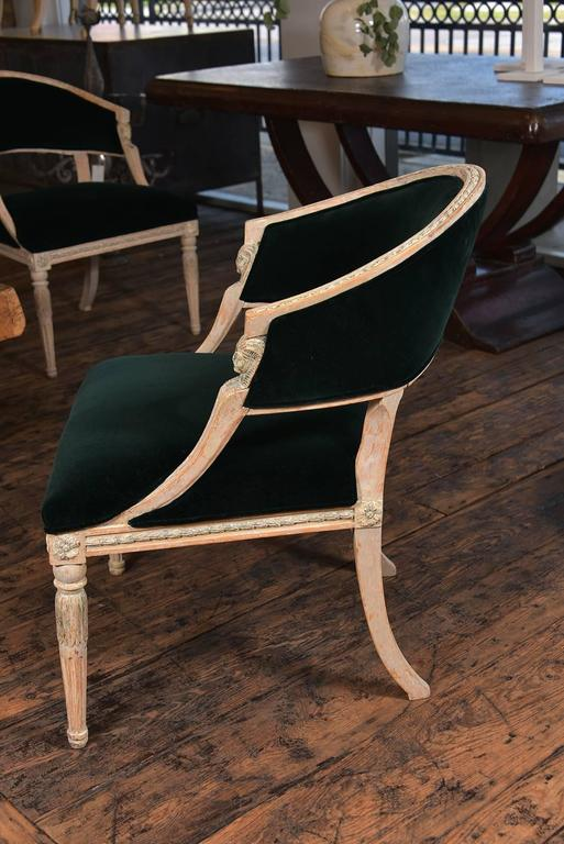 Swedish Gustavian Barrel Back Chairs For Sale 5