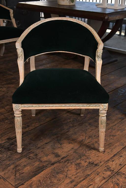 Swedish Gustavian Barrel Back Chairs 8