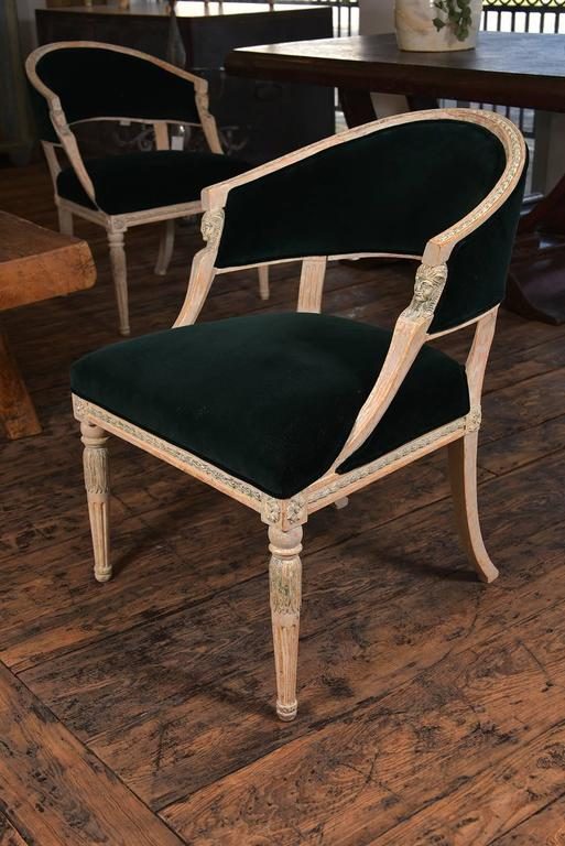Swedish Gustavian Barrel Back Chairs For Sale 1