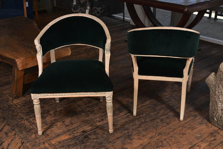 Swedish Gustavian Barrel Back Chairs For Sale 2