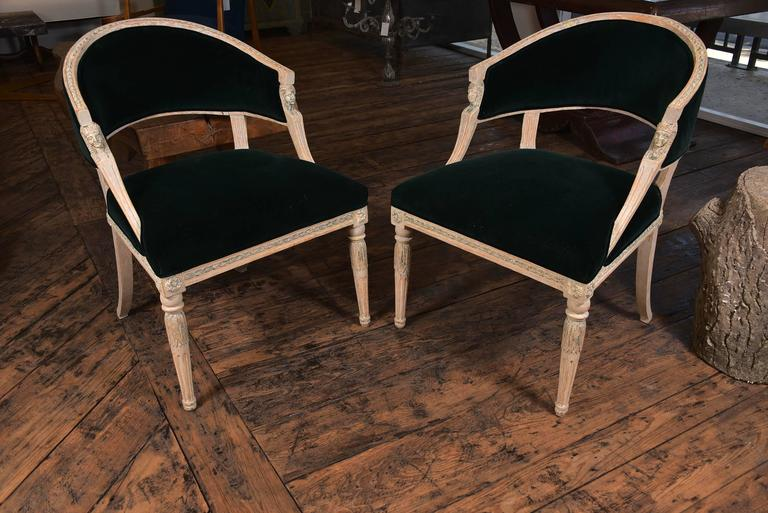 Swedish Gustavian Barrel Back Chairs For Sale 3
