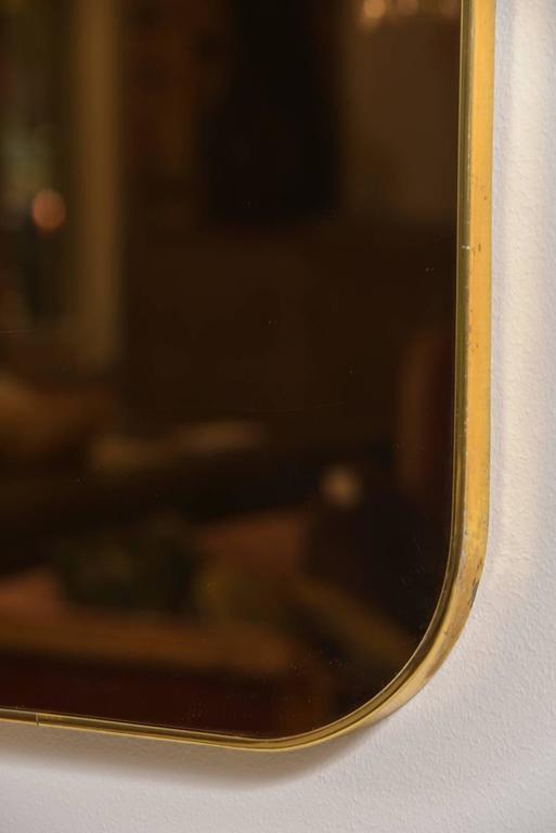 Thin Frame Brass Mirror 2