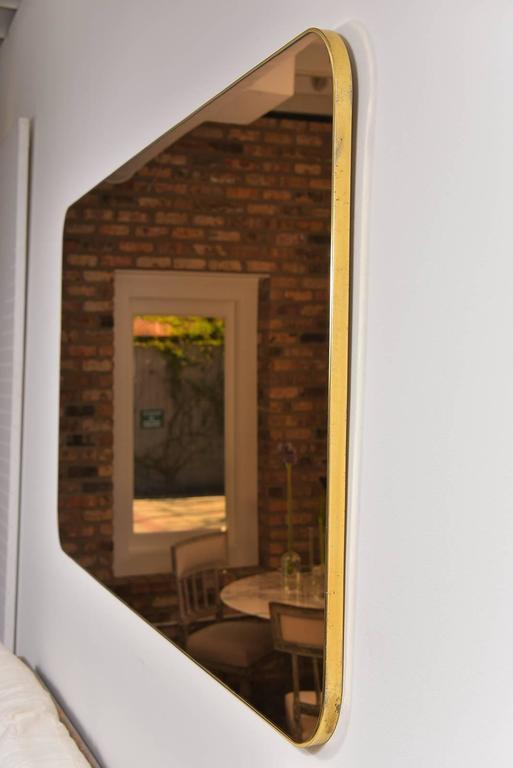 Thin Frame Brass Mirror 4