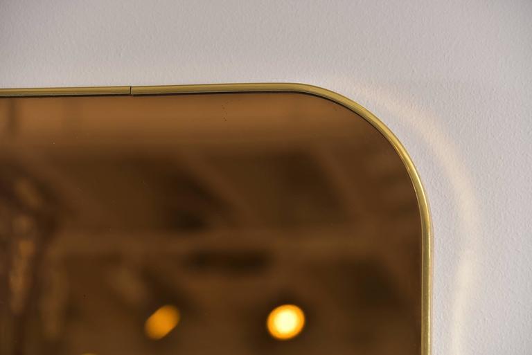 Thin Frame Brass Mirror 5