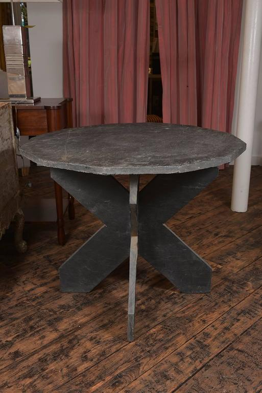 French Slate Side Table For Sale