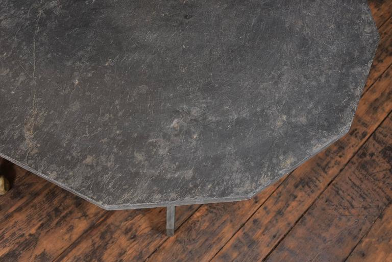 Slate Side Table In Excellent Condition For Sale In Houston, TX