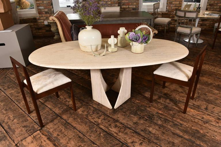 French Travertine Table 7