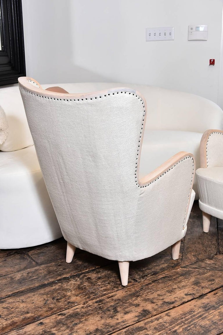 Pair of Swedish Wing Chairs 4