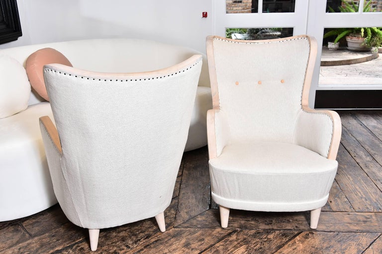 Pair of Swedish Wing Chairs For Sale 3