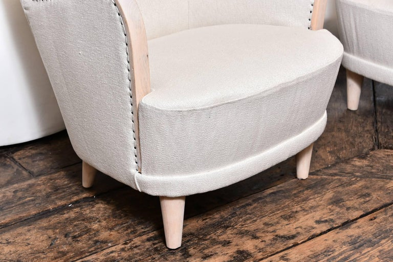 Pair of Swedish Wing Chairs For Sale 4