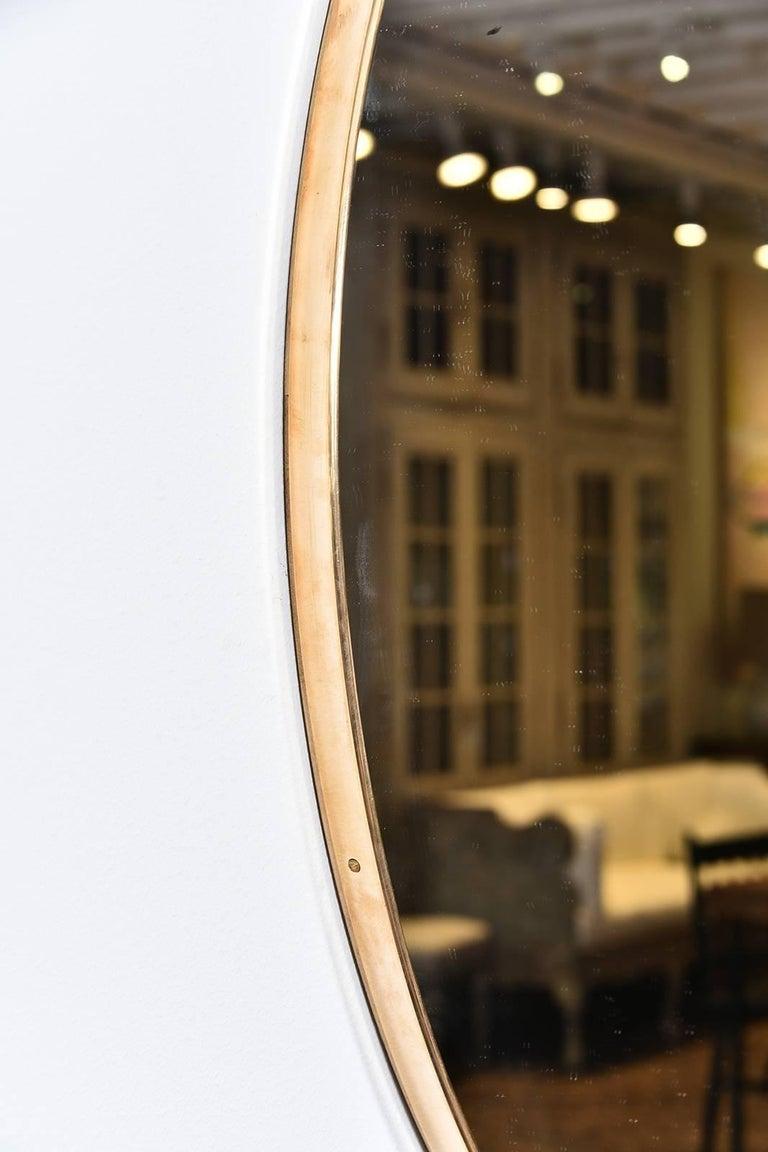 Italian Vintage Brass Mirror For Sale