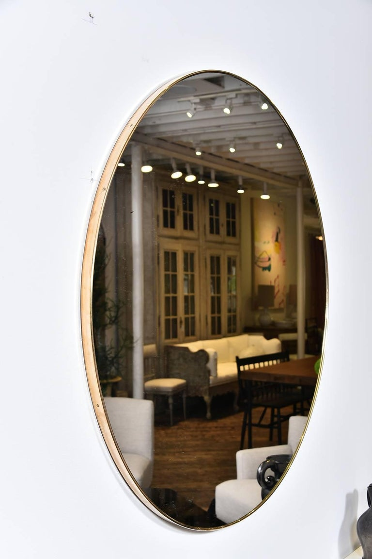 Vintage Brass Mirror In Excellent Condition For Sale In Houston, TX