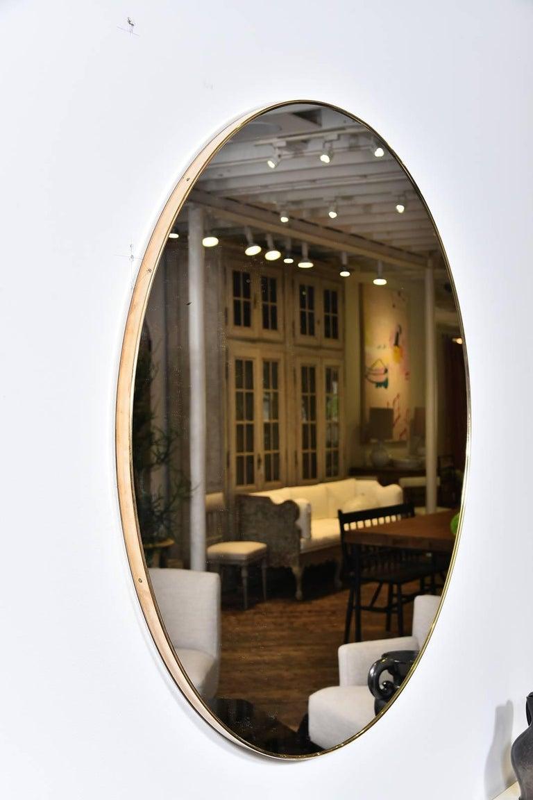 Vintage Brass Mirror 4