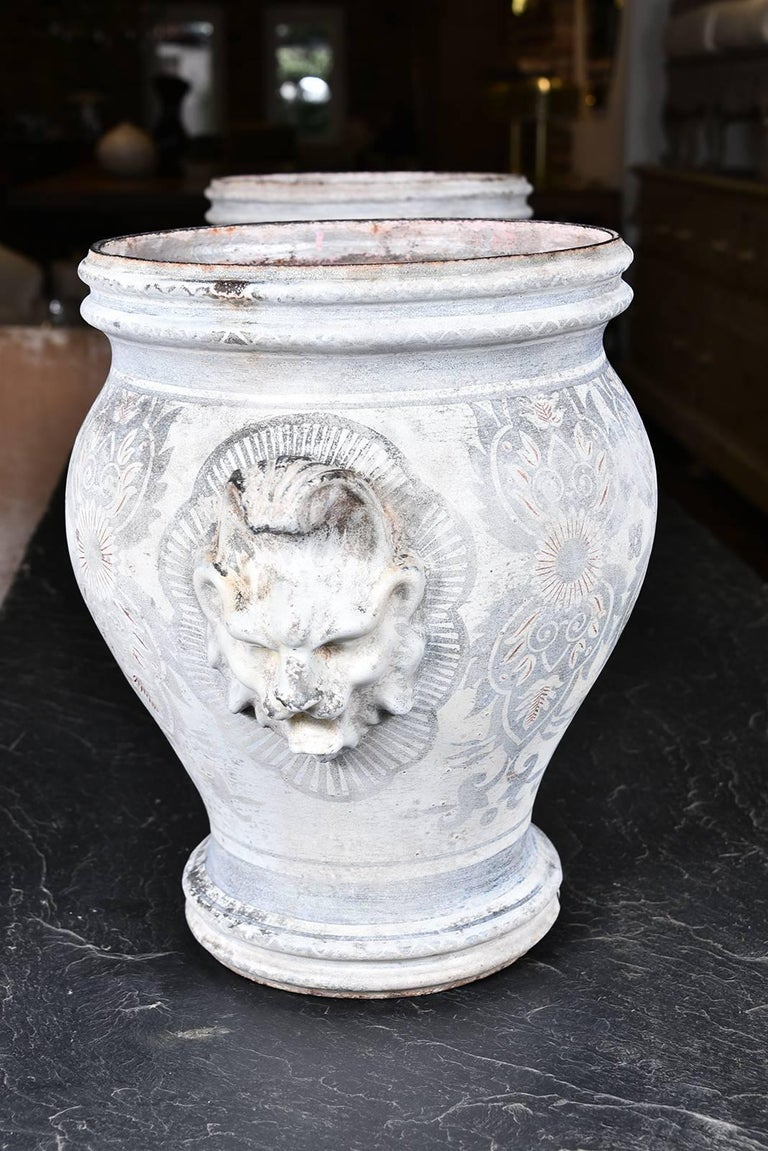 Pair of Rouen Urns 8