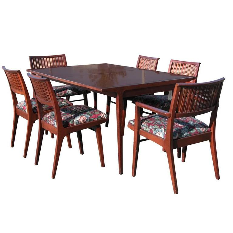 Drexel Counterpoint Table And Six Chairs Designed By John Van Koert 1