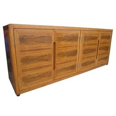 Vintage Mid-Century Dunbar Rosewood and White Oak Credenza