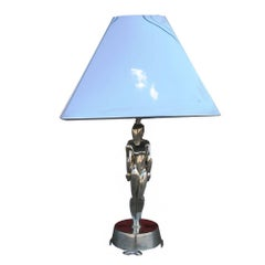 Art Deco Chrome Lamp and Shade Designed by Viktor Schreckengost