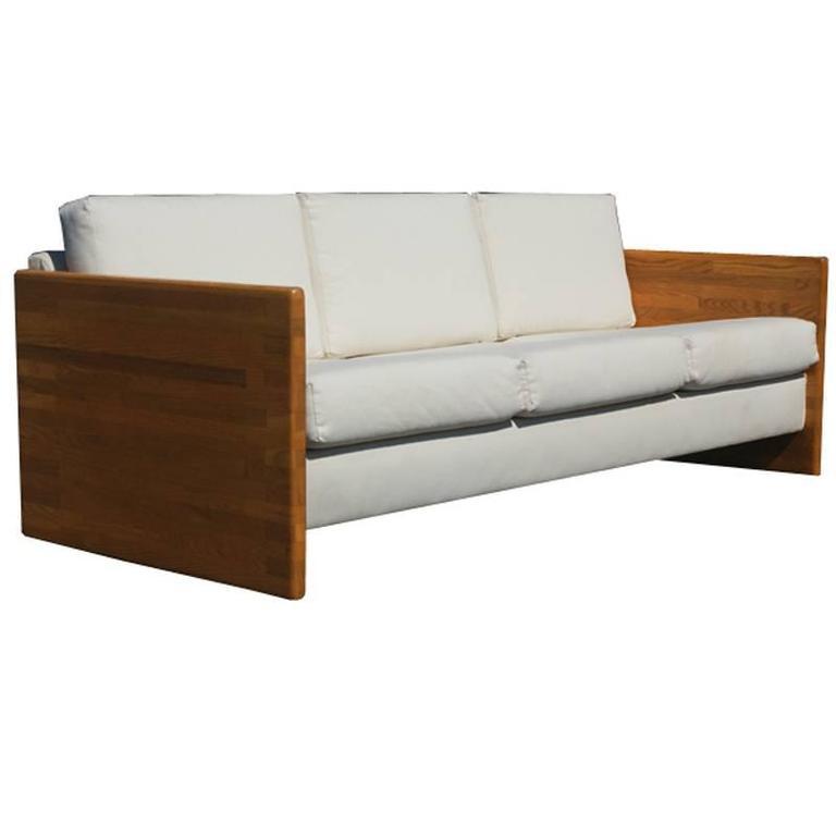 Strange Vintage Jerryll Habegger Butcher Block Sofa Couch At 1Stdibs Theyellowbook Wood Chair Design Ideas Theyellowbookinfo