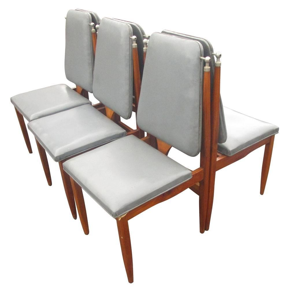 Vintage Six 39 6 39 Italian Dining Chairs For Sale At 1stdibs