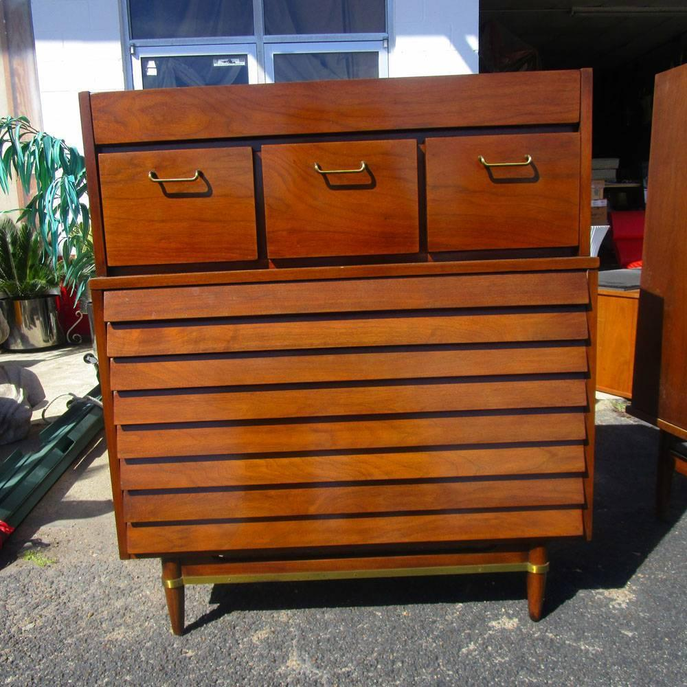 Vintage mid century american of martinsville highboy for for Vintage american martinsville bedroom furniture