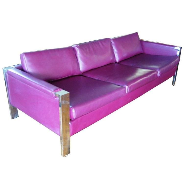 Milo Baughman Style Thomasville Sofa For Sale