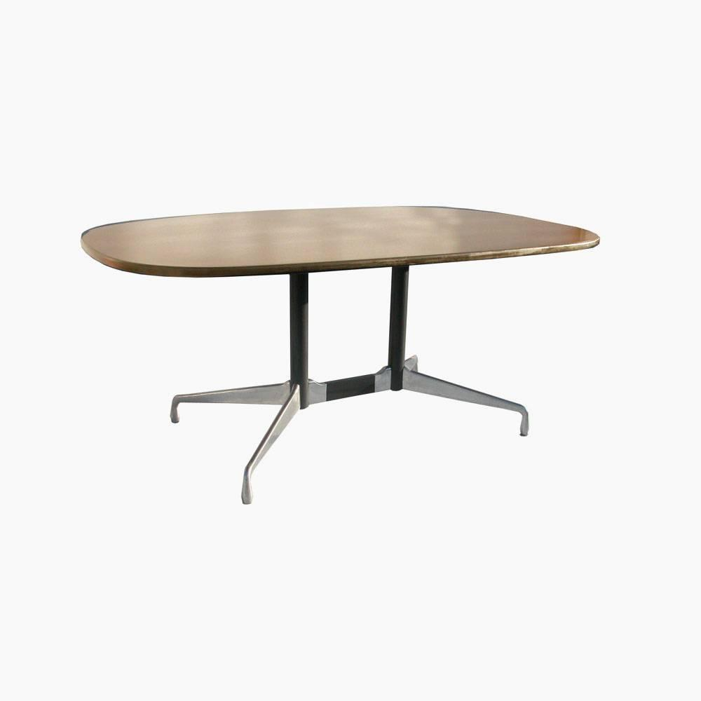 herman miller eames veneer racetrack dining table for sale at 1stdibs. Black Bedroom Furniture Sets. Home Design Ideas
