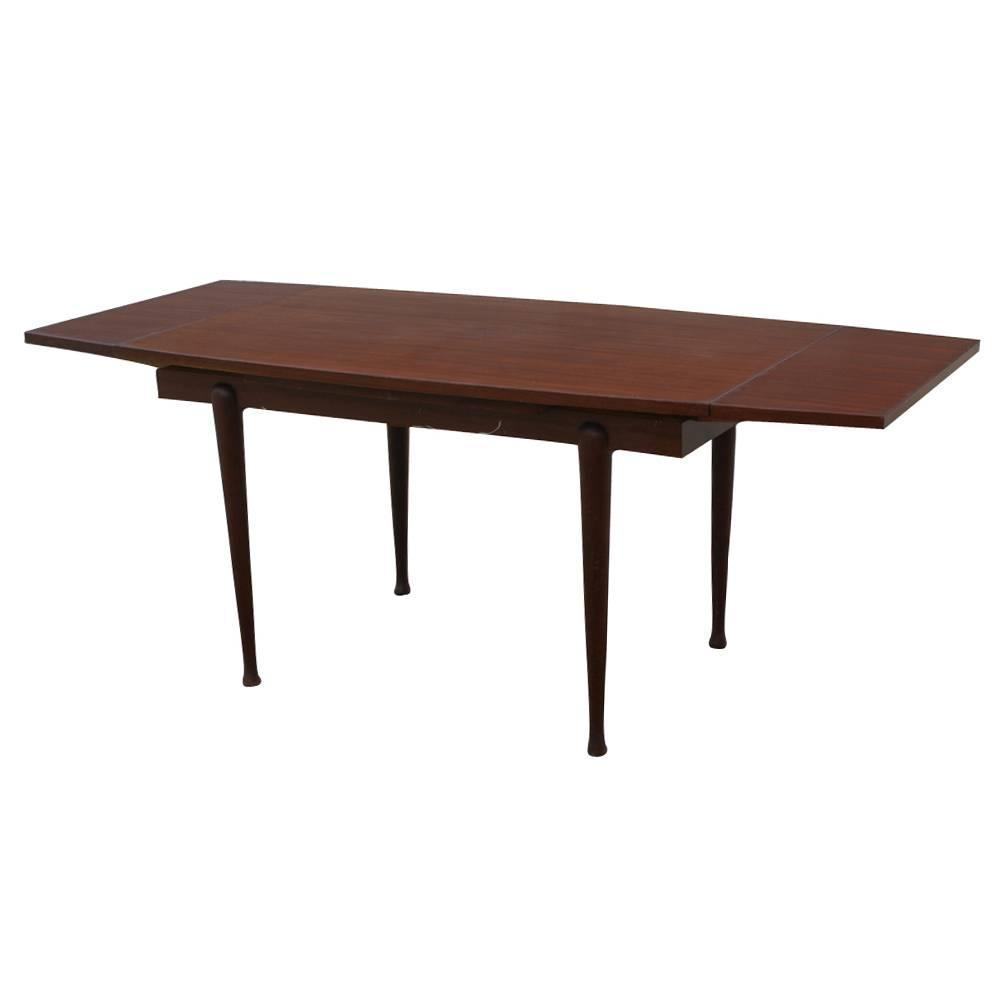 Vintage danish mahogany dining extension table for sale at for Most beautiful dining room tables