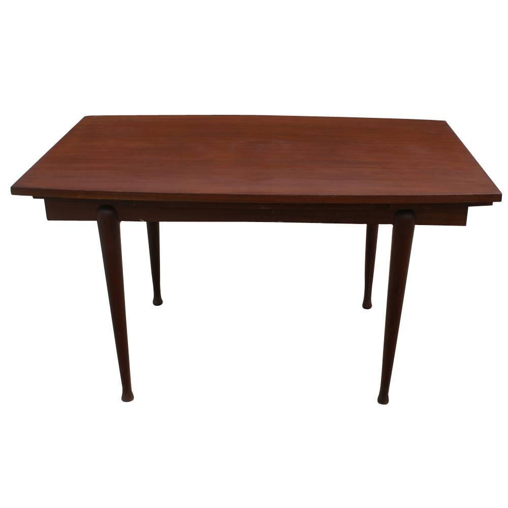 Vintage danish mahogany dining extension table for sale at for Mahogany dining room furniture