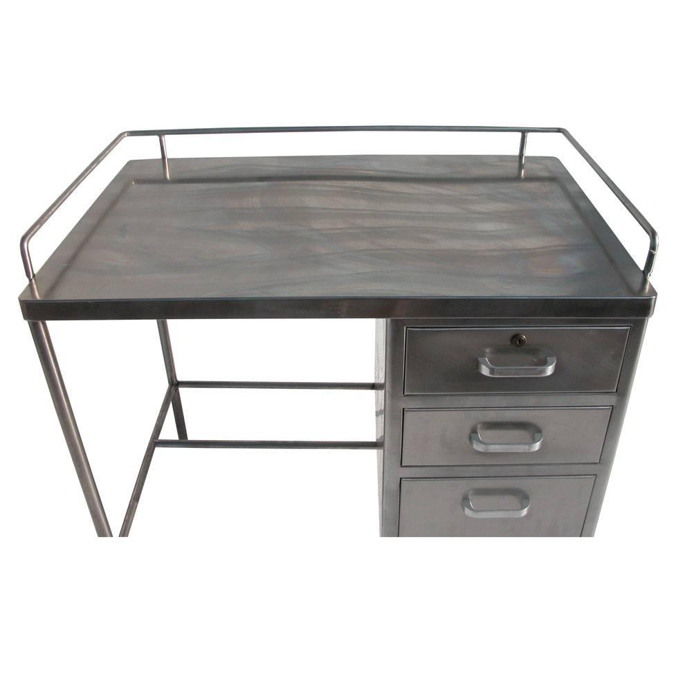 Vintage Industrial Stainless Steel Desk At 1stdibs