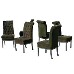 Six Vintage Dia Style Dining Highback Chairs