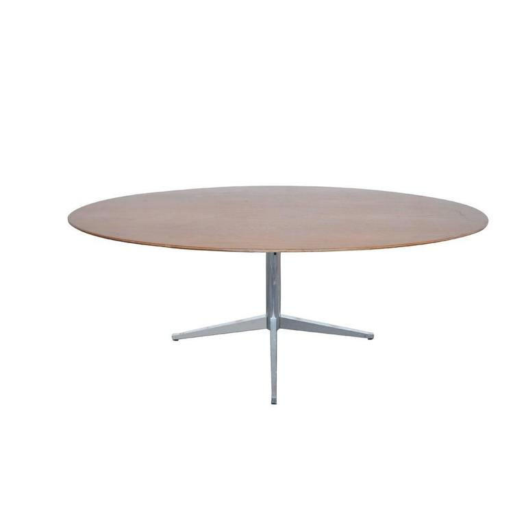 florence knoll walnut table dining or conference for sale at 1stdibs