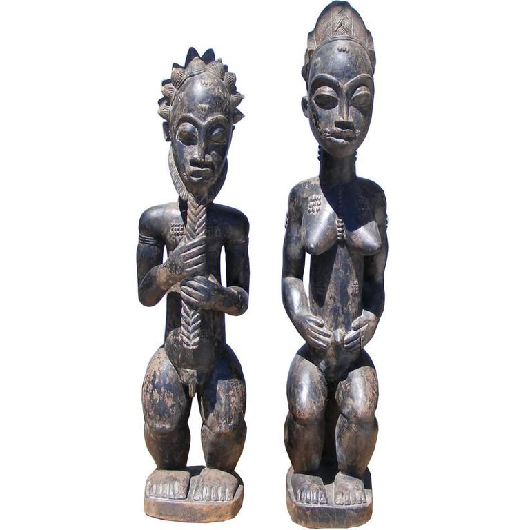 African Art, Wood Sculptures of Baule Couple