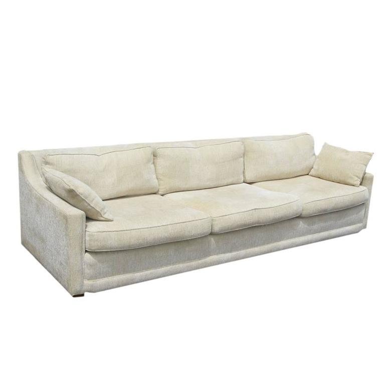 Vintage Mid Century Baker Low Profile Sofa For Sale