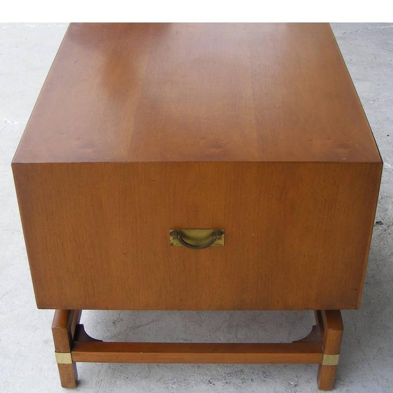 Mid Century Modern Vintage Mid Century Butternut Side Table Nightstand Hickory  Furniture Co For
