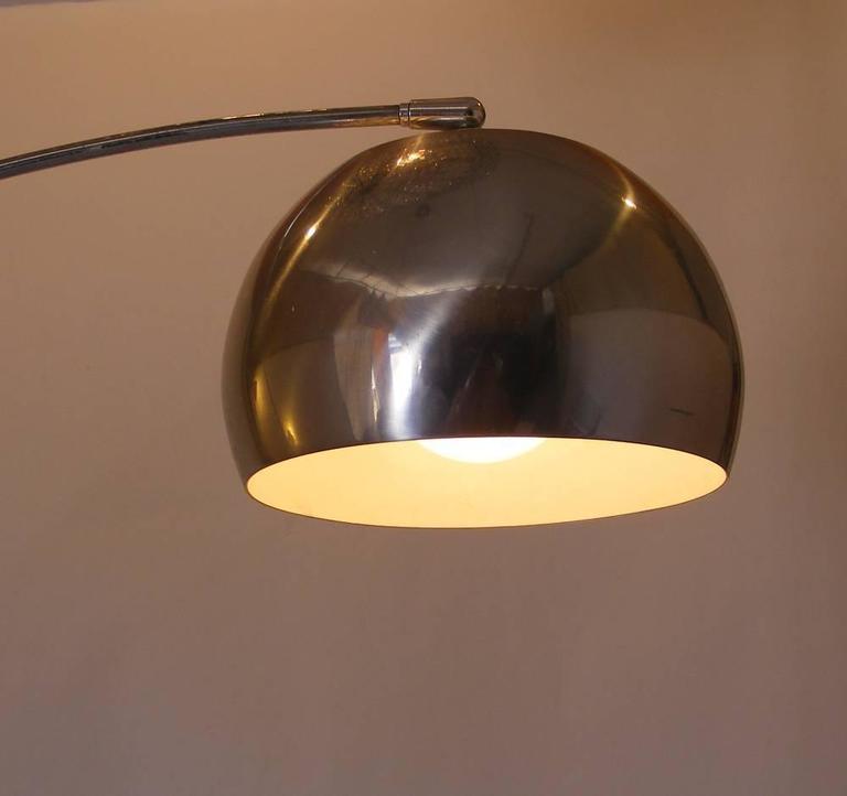 Mid Century 1970s Chrome Italian Style Arc Floor Lamp For Sale At