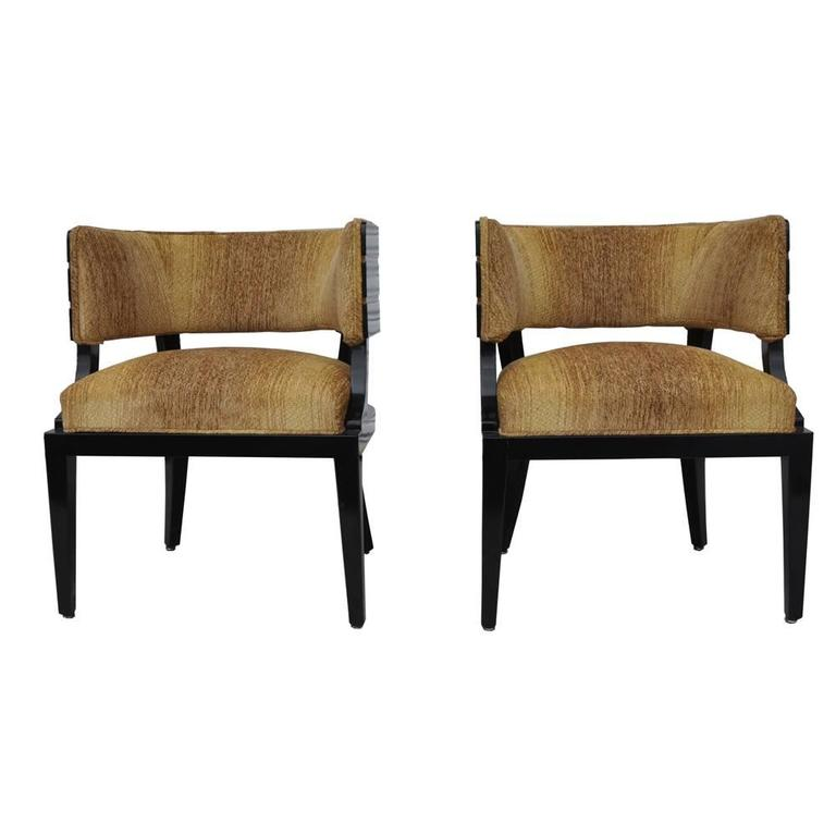 Pair of art deco donald desky style french lounge chairs for Art deco style lounge
