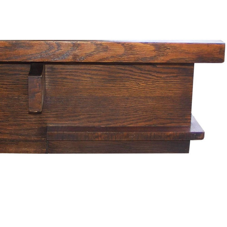 Lane Switchblade Coffee Table: Lane Mid-Century Plank Walnut Trestle Coffee Table For