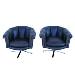 Pair of Vintage Mid-Century Nicos Zographos Lounge Chairs