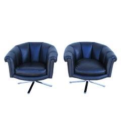 Pair of Vintage Mid-Century Nicos Zographos Lounge Chairs