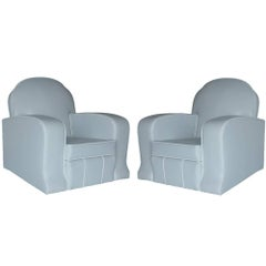 Two 1930s, Art Deco Style Lounge Armchairs