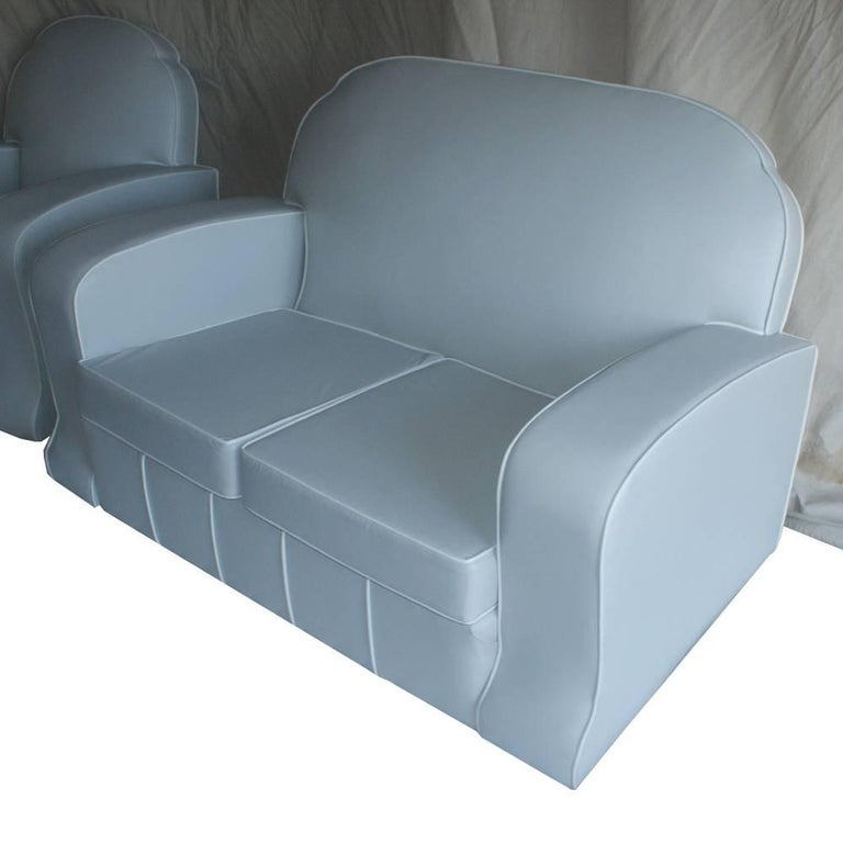 Mid-20th Century 1930s Art Deco Loveseat Settee For Sale