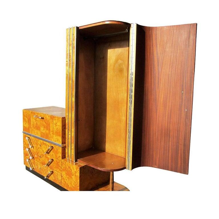 Italian Vintage Art Deco Armoire For Sale