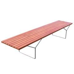 Rare Size Knoll Bertoia Slat Bench