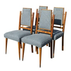 Set of Four Mid-Century Modern Italian Dining Chairs
