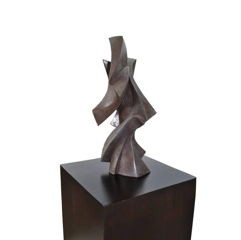 American Edmond Casarella Soaring Sculpture on Pedestal Base   For Sale