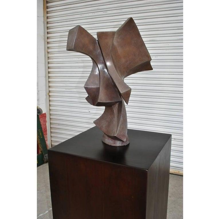 Modern Edmond Casarella Soaring Sculpture on Pedestal Base   For Sale