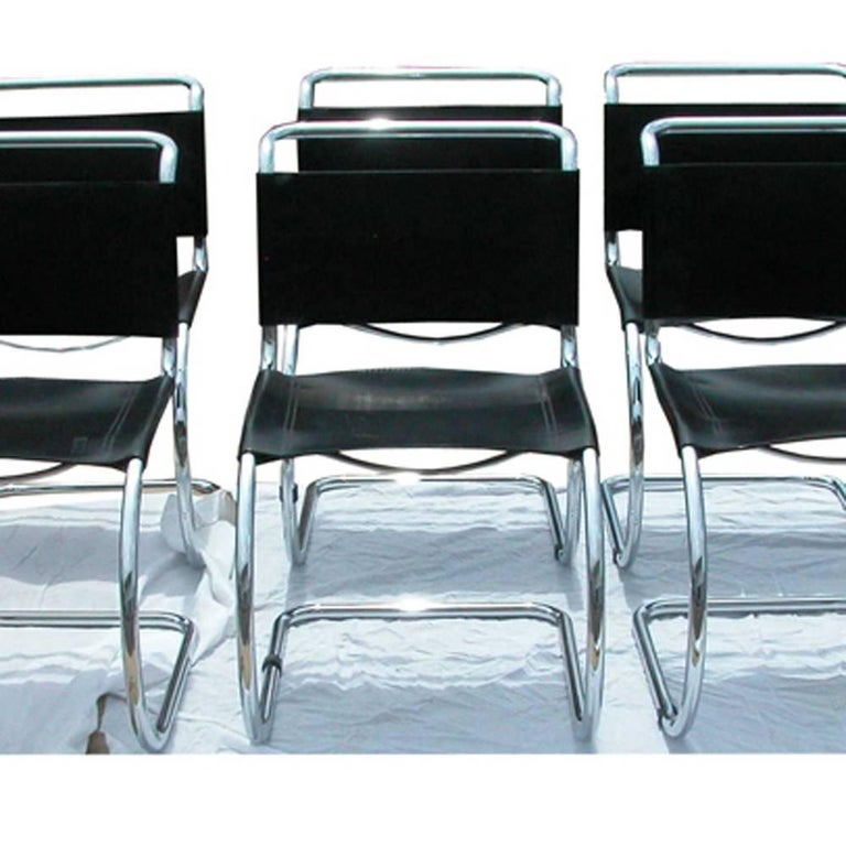 1 Tubular MR10 Chair by Ludwig Mies van der Rohe Gordon Int'l For Sale 2