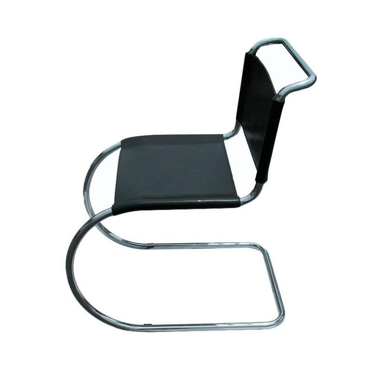 Mid-Century Modern 1 Tubular MR10 Chair by Ludwig Mies van der Rohe Gordon Int'l For Sale