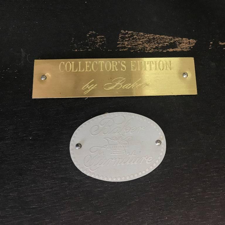 Vintage Baker Collector's Edition Burl Side Table For Sale 1