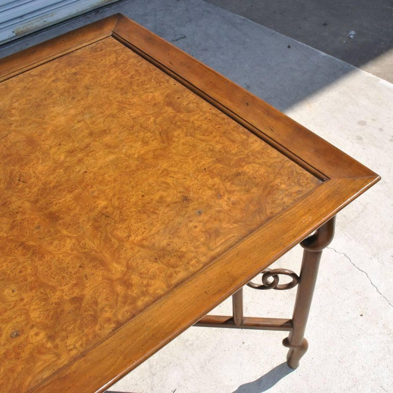 Vintage Baker Collector's Edition Burl Side Table In Good Condition For Sale In Pasadena, TX